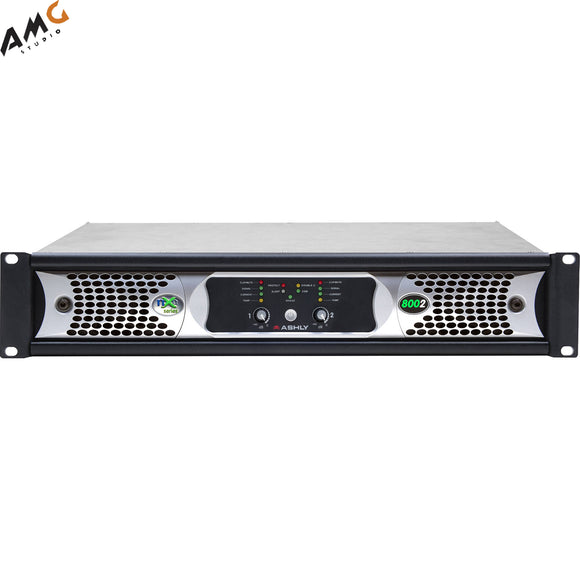Ashly nXe8002bd 2x 800 Watts/2 Ohms Network Power Amplifier with OPDante Cards - Studio AMG