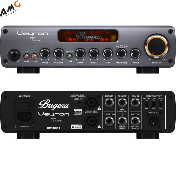 Bugera Veyron T BV1001T 2,000W Amplifier with Tube Preamp - Studio AMG