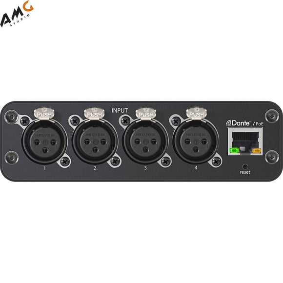 Shure Microflex Advance 4-Channel Dante Mic/Line Audio Network Interface Unit (XLR Inputs) - Studio AMG