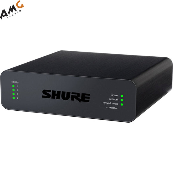 Shure Microflex Advance 4-Channel Dante Mic/Line Audio Network Interface Unit (Block Inputs) - Studio AMG