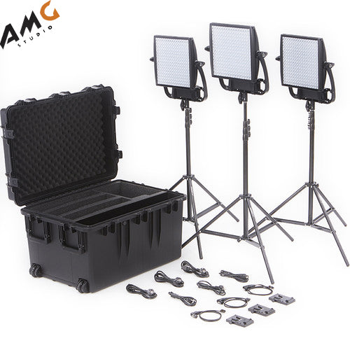 Litepanels Astra 6X Traveler Bi-Color Trio 3-Light Kit w V-Mount Battery Plate - Studio AMG