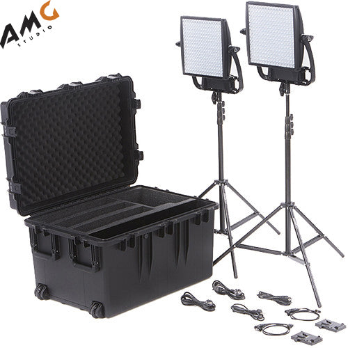 Litepanels Astra 6X Traveler Bi-Color Duo 2-Light Kit with V-Mount Battery Plate - Studio AMG