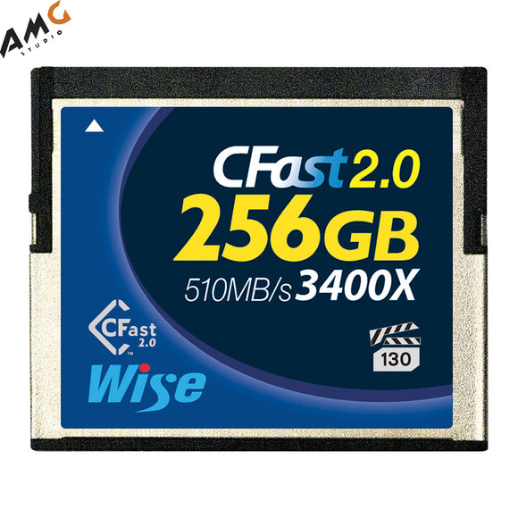 Wise CFast 2.0 256GB Memory Card 510MB/s For Lexar/Sandisk Blackmagic Ursa Mini - Studio AMG