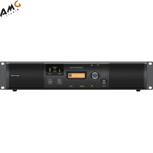Behringer NX1000D Ultra-Lightweight Class-D Power Amplifier with DSP (160W/Channel at 8 Ohms) - Studio AMG
