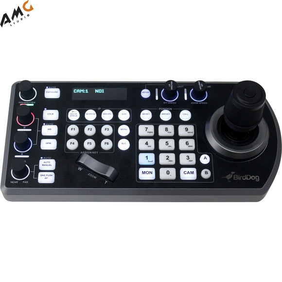 BirdDog PTZ Keyboard Controller with NDI, VISCA, RS-232 & RS422, BirdDog Comms Compatible - Studio AMG