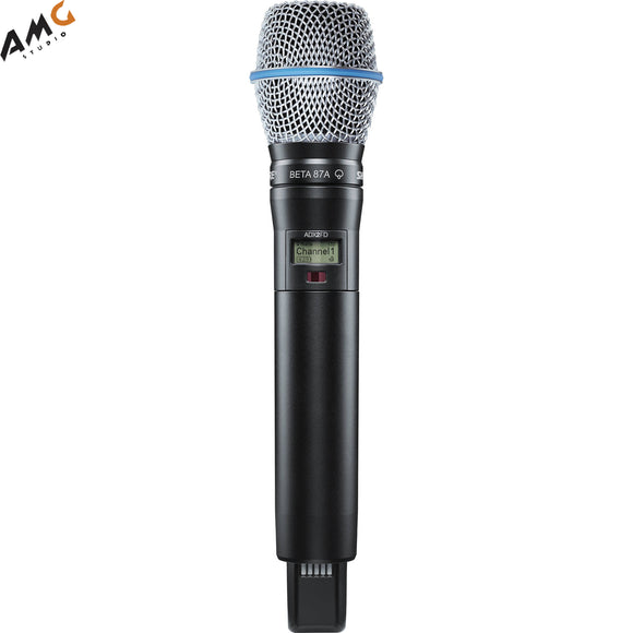 Shure ADX2FD/B87A Digital Handheld Wireless Microphone Transmitter with Beta 87A Capsule (G57: 470 to 616 MHz) - Studio AMG