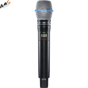 Shure ADX2/B87A Digital Handheld Wireless Microphone Transmitter with Beta 87A Capsule (G57: 470 to 616 MHz) - Studio AMG