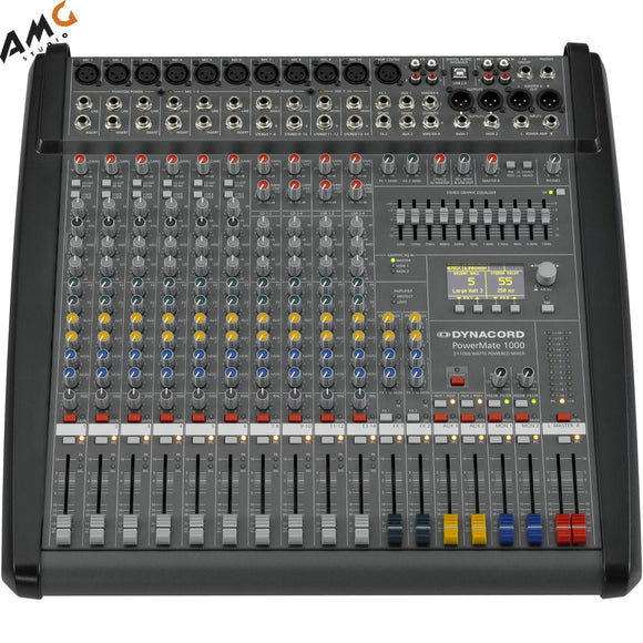 Dynacord PowerMate 3 10-Channel Powered Mixer DC-PM1000-3-UNIV - Studio AMG