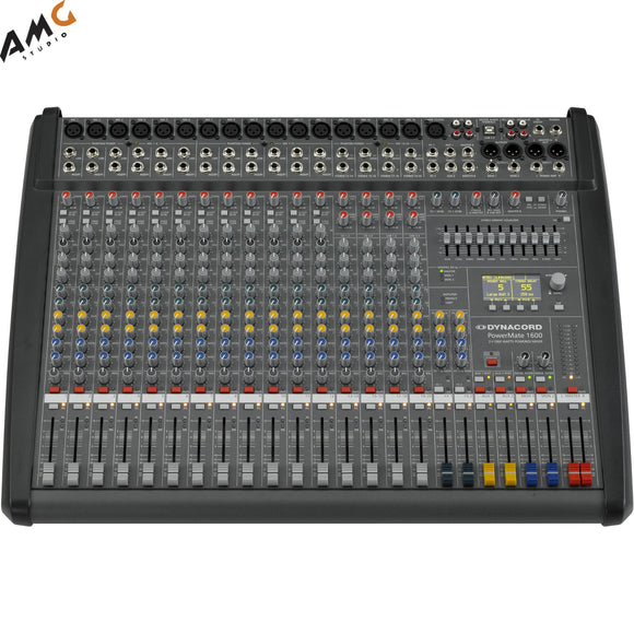 Dynacord PowerMate 3 16-Channel Powered Mixer DC-PM1600-3-UNIV - Studio AMG