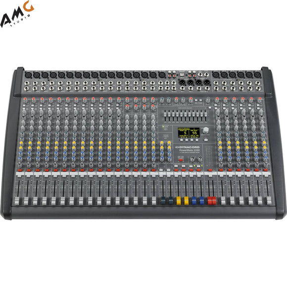 Dynacord PowerMate 3 22-Channel Powered Mixer DC-PM2200-3-UNIV - Studio AMG