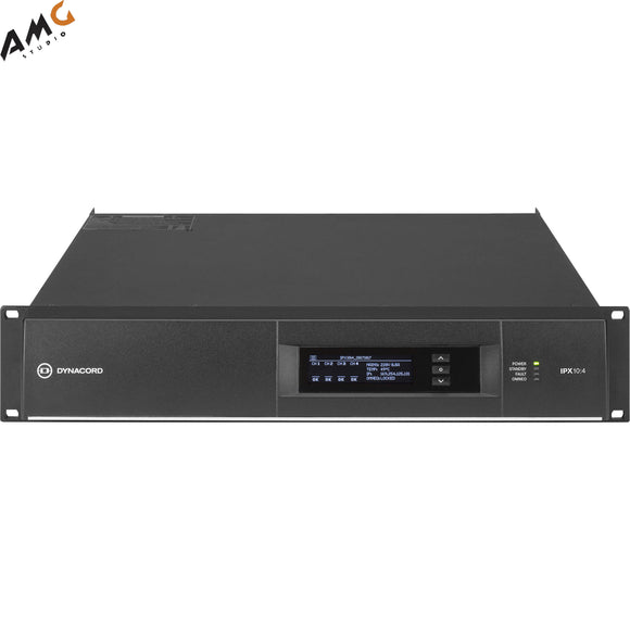 Dynacord IPX10:4 DSP Power Amplifier 4x2500W With Omneo/Dante-Fir Drive, Install-32A Powercon Power Connector - Studio AMG