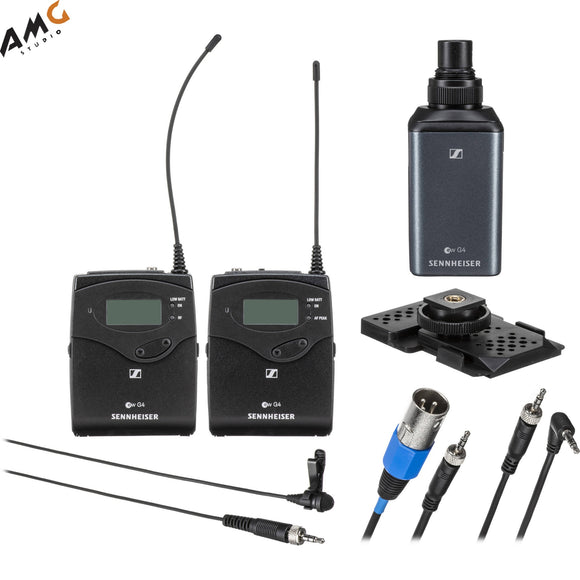 Sennheiser EW 100 ENG G4 Camera-Mount Wireless Combo Microphone System - Studio AMG
