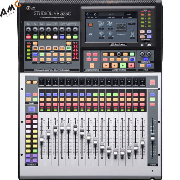 PreSonus StudioLive 32SC Series III 32-Channel Subcompact Digital Mixer Recorder - Studio AMG