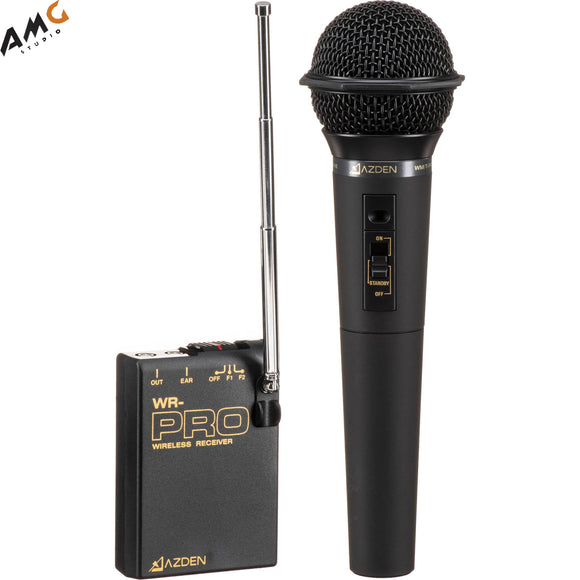 Azden WHX-PRO VHF Camera-Mount Wireless Cardioid Handheld Microphone System (169 & 170 MHz) - Studio AMG