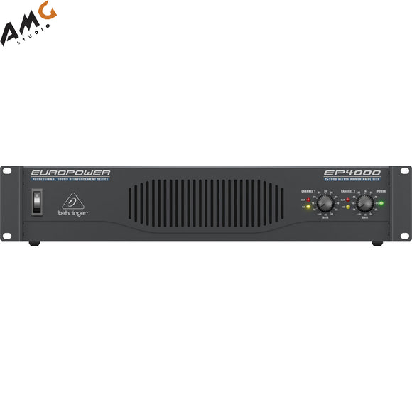 Behringer Europower EP4000 Professional Stereo Power Amplifier (750W/Channel @ 8 Ohms) - Studio AMG