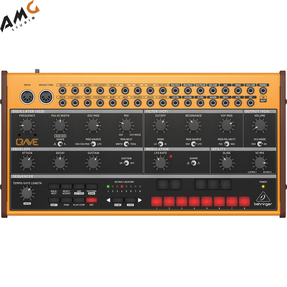 Behringer CRAVE Analog Semi-Modular Synthesizer with 32-Step Sequencer - Studio AMG
