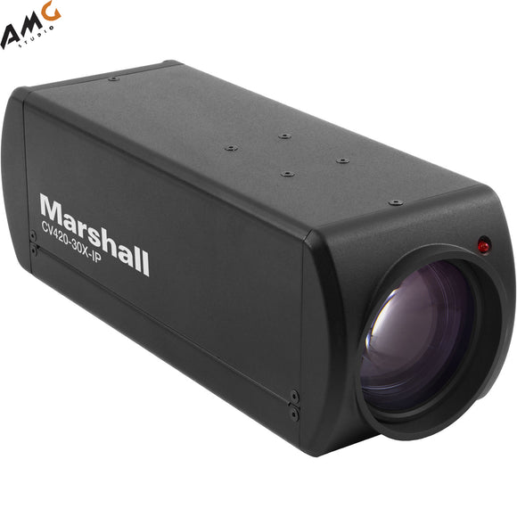 Marshall Electronics CV420-30X-IP Zoom Block UHD 4K IP Camera w/ HDMI 2.0 & PoE - Studio AMG