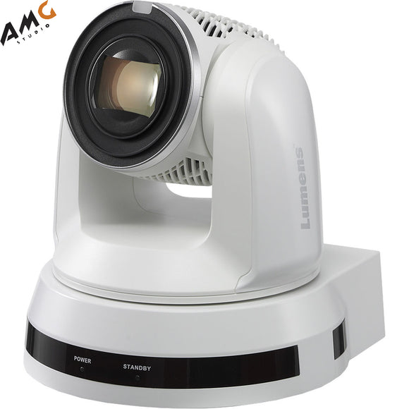 Lumens VC-A61P 30X Optical Zoom 4K/30fps 1080p/60fps IP PTZ Video Camera (White) - Studio AMG