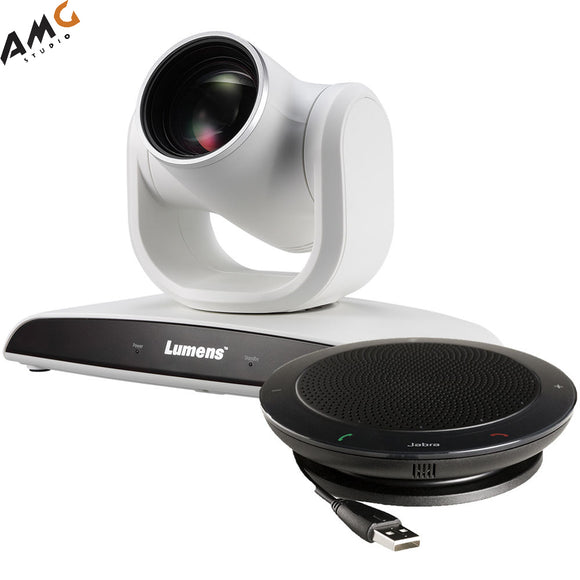 Lumens VC-B30UA 2MP PTZ Camera with Jabra Speaker (White) - Studio AMG