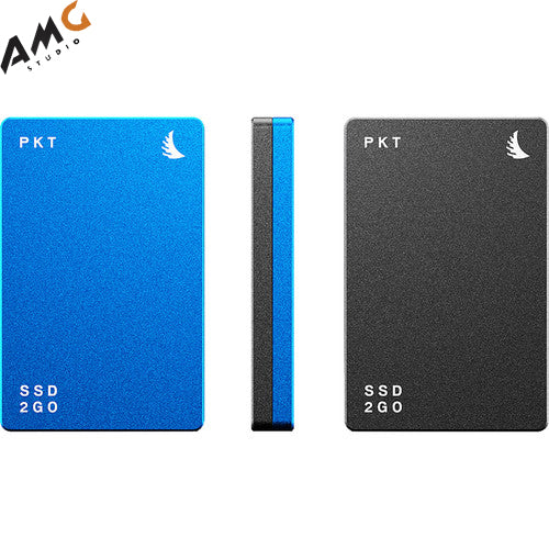 Angelbird 512GB/1TB/2TB SSD2GO PKT MK2 External SSD (Blue, Gray, Red) - Studio AMG