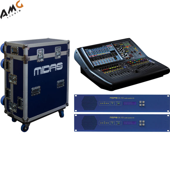 Midas PRO1 Tour Bundle Live Sound Digital Console with Two Stageboxes and Road Case - Studio AMG