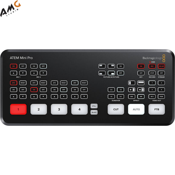 Blackmagic Design ATEM Mini Pro HDMI Live Stream Switcher SWATEMMINIBPR IN STOCK - Studio AMG