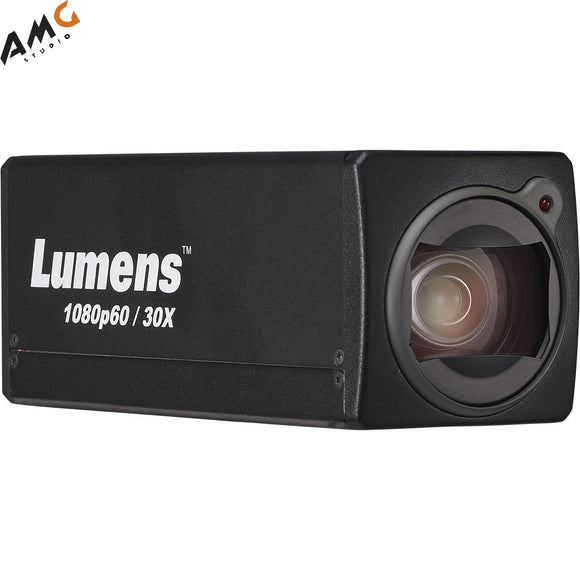 Lumens VC-BC601P 8MP Full HD HDMI/3G-SDI/Ethernet Box Camera with PoE and Live Streaming, 30x Optical Zoom, Black or White - Studio AMG