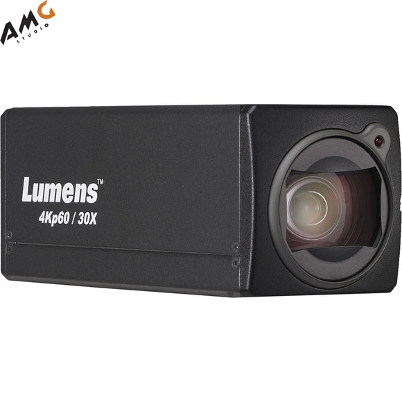 Lumens VC-BC701P 8MP 4K UHD HDMI 2.0/Ethernet Box Camera with PoE and Live Streaming, 30x Optical Zoom, Black - Studio AMG