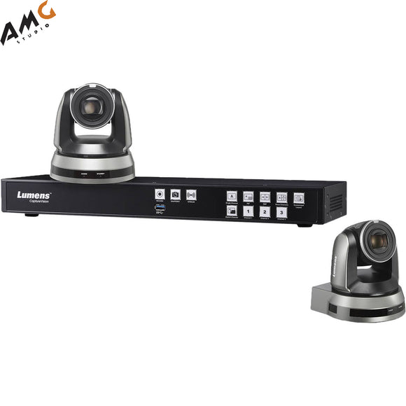 Lumens LC200 CaptureVision System With 2x (VC-A61PB | VC-A61PW) IP PTZ Camera - Studio AMG