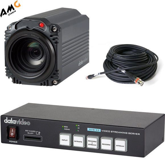 Datavideo EZ Streaming Package A1 with 1080p Camera, Streaming Encoder, and SDI Cable - Studio AMG