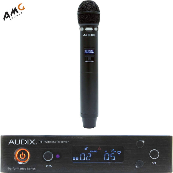 Audix AP61 VX5 R61 Single-Channel True Diversity Receiver w H60 VX5 Handheld Mic - Studio AMG