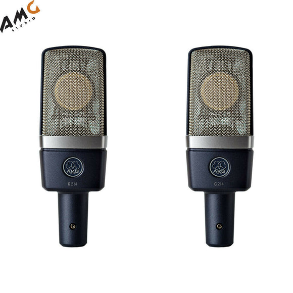 AKG C214MP Large-Diaphragm Condenser Microphone Matched Pair 3185X00110 - Studio AMG