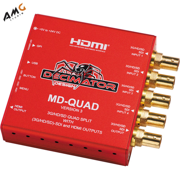 DECIMATOR MD-QUAD 3G/HD/SD-SDI Quad Split Multi-Viewer with SD/HD/3G-SDI & HDMI Outputs Version 3 - Studio AMG