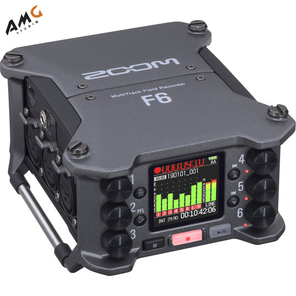 Zoom F6 Multitrack Field Recorder 6-Input / 14-Track ZF6 - Studio AMG