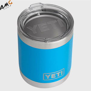 YETI Rambler 10 oz Lowball Stainless Steel Vacuum Insulated Lowball Tahoe Blue - Studio AMG