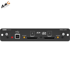 Klark Teknik DN32-LIVE SD/SDHC and USB 2.0 Expansion Module for M32/X32 Mixers - Studio AMG