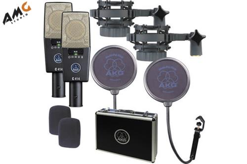 AKG C414 XLS ST Multi-Pattern Large-Diaphragm Condenser Microphone (Matched Pair Stereo Set) 3059X00230 - Studio AMG