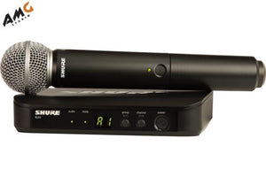 Shure BLX24/SM58 Wireless Handheld Microphone System with SM58 Capsule (H9 H10 J10) - Studio AMG