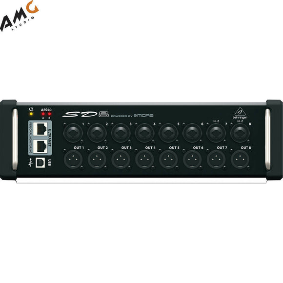 Behringer SD8 - I/O Stage Digital Box With 8 Remote Preamps - Studio AMG