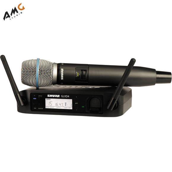 Shure GLXD24/SM58 Digital Wireless Handheld Microphone System with SM58 Capsule (2.4 GHz) - Studio AMG
