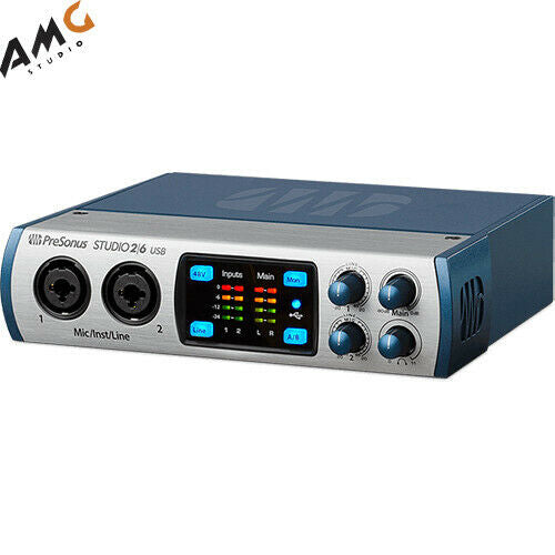 PreSonus Studio 26 - 2x4 192 kHz, USB 2.0 Audio/MIDI Interface - Studio AMG