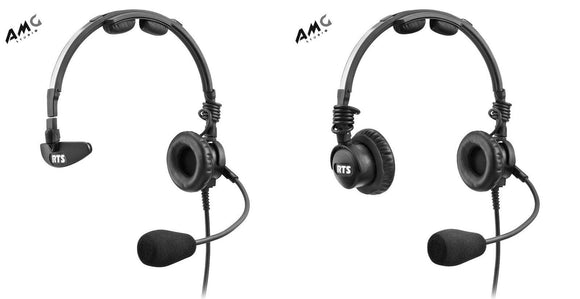 Telex LH-300 LH-302 Lightweight RTS Single/Double-Sided Broadcast Headset - Studio AMG