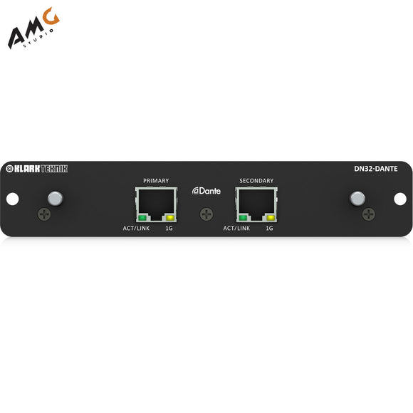 Klark Teknik DN32-DANTE 32-Channel Dante Expansion Card for M32 & X32 Consoles - Studio AMG