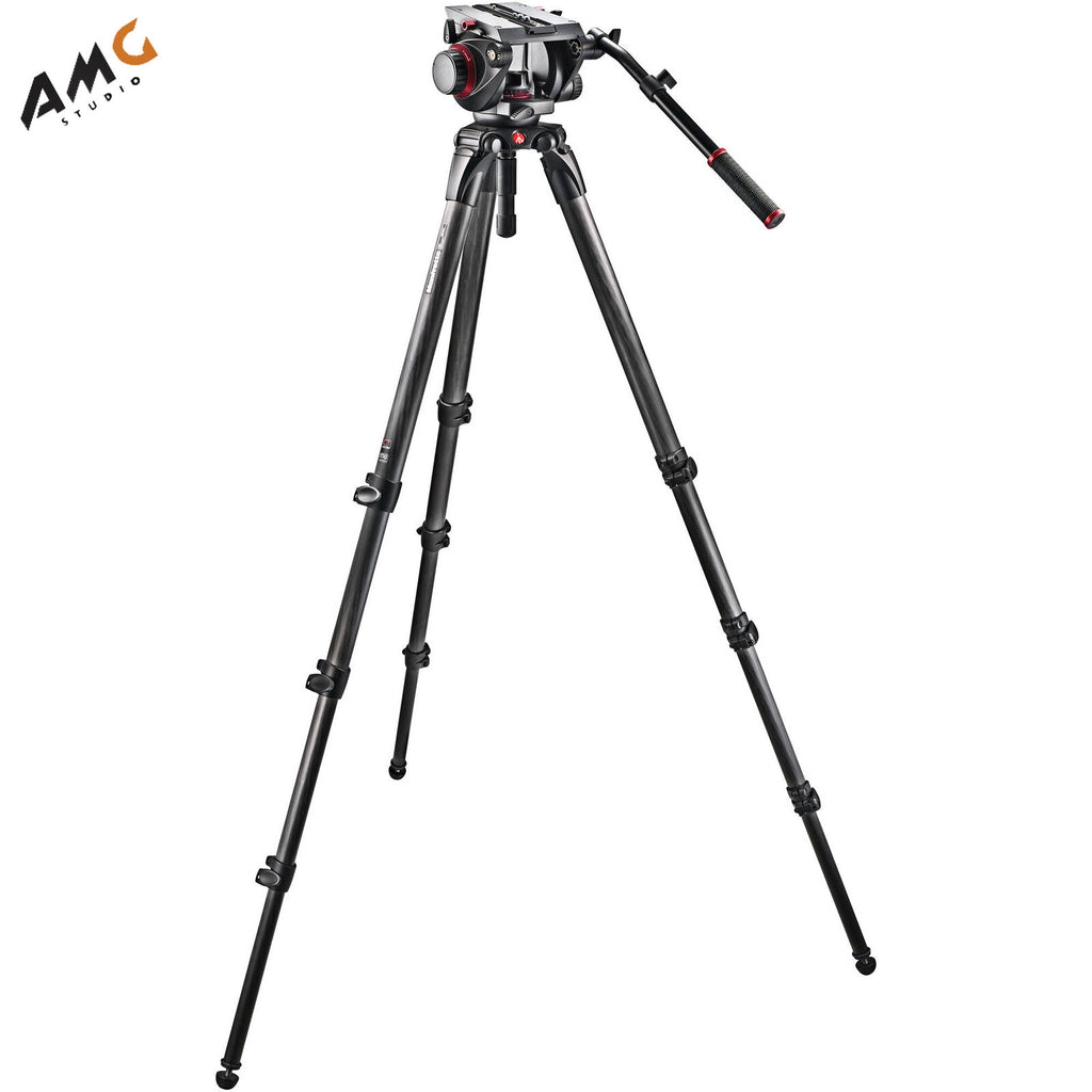 Manfrotto 509HD Video Head with 536 Carbon Fiber Tripod Legs and Padded Bag