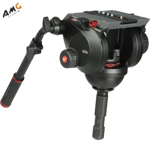Manfrotto 509HD Video Head with 536 Carbon Fiber Tripod Legs and Padded Bag - Studio AMG