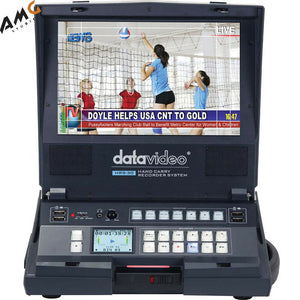 "Datavideo HRS-30 Portable Hand Carried SD/HD-SDI Recorder with Built-In 10.1"" Monitor - Studio AMG"
