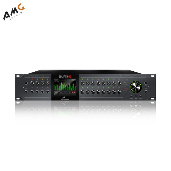 Antelope 64-Channel Thunderbolt 2 USB 3.0 HDX Microphone Audio Interface GOLIATH - Studio AMG