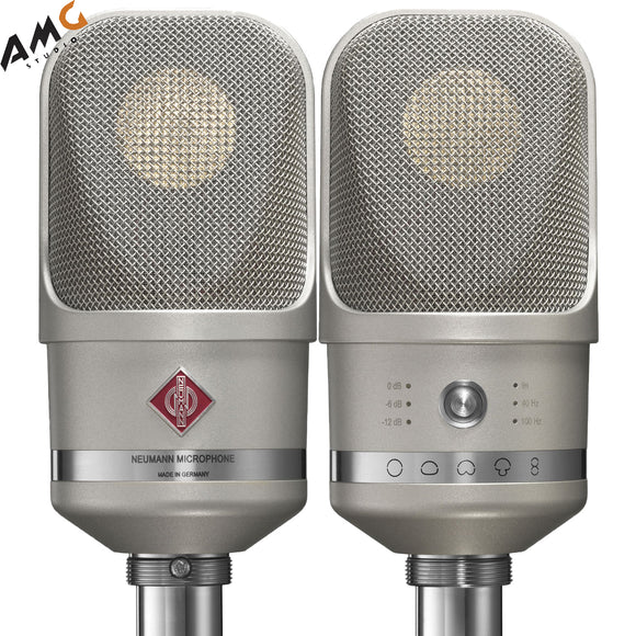 Neumann TLM 107 Multi-Pattern Large Diaphragm Condenser Microphone (Studio Set, Nickel | Black) - Studio AMG