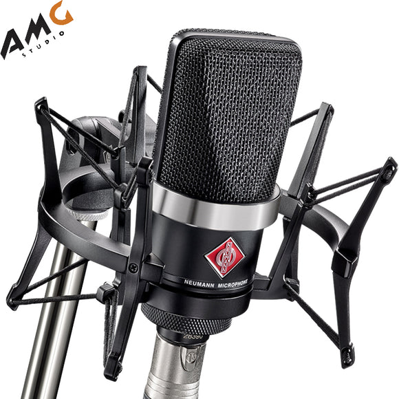 Neumann TLM 102 Diaphragm Condenser Cardioid Microphone Studio Set (Black | Nickel)