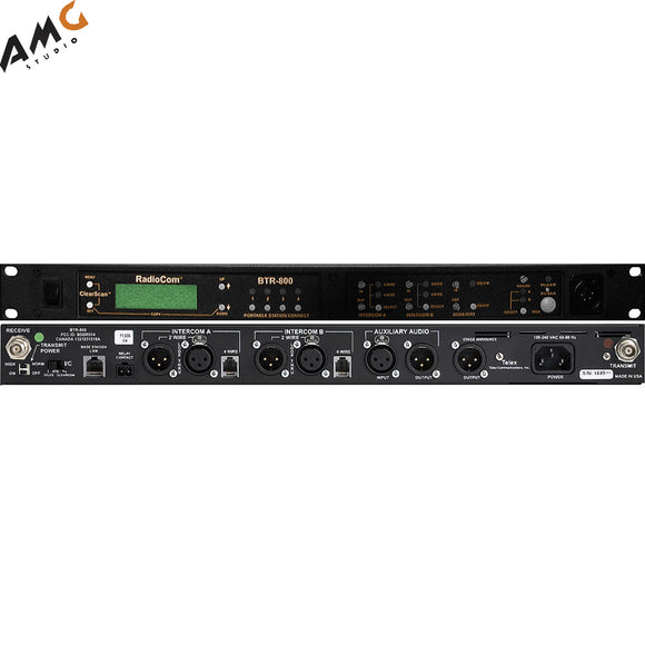 Telex BTR-800 2-Channel UHF Base Station (A4M Telex, E88: 590-608MHz Transmit/470-488MHz Receive) - Studio AMG